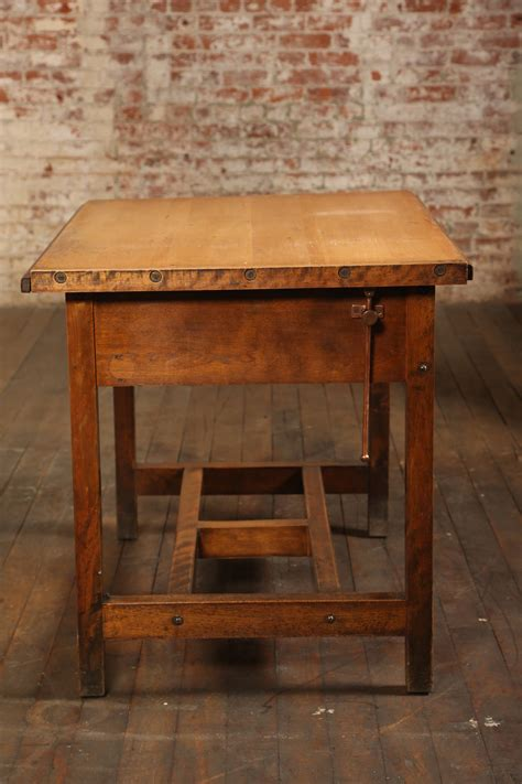 desk with drafting table vintage industrial drafting table or desk with drawer at
