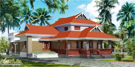 typical home traditional house in 1800 square home kerala plans