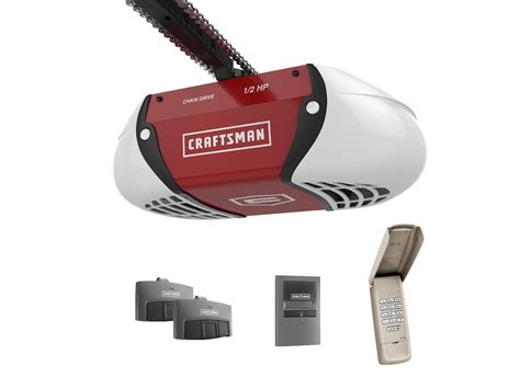 craftsman garage door opener trouble shooting craftsman 189 hp chain drive garage door opener with two