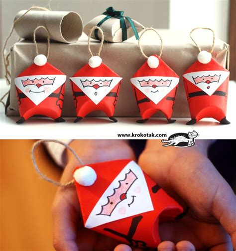 santa toilet paper roll craft creative surprises crafts from toilet paper
