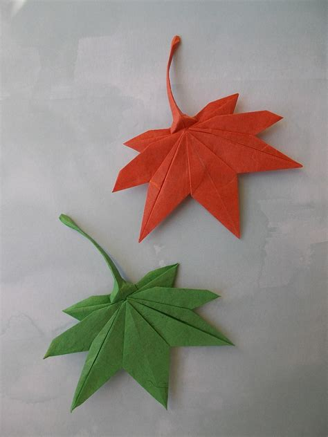 origami with leaf this week in origami autumn leaves edition