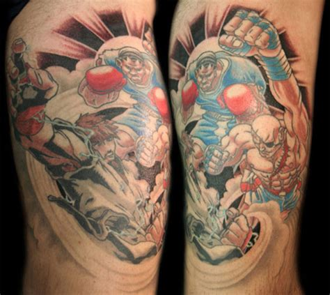street fighter themed tattoos 1