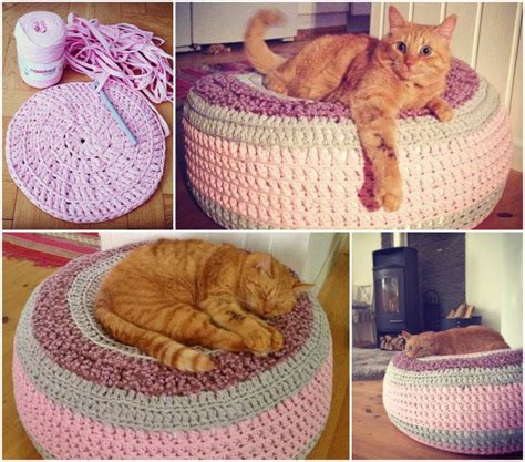 knit cat bed pattern bed knitting images