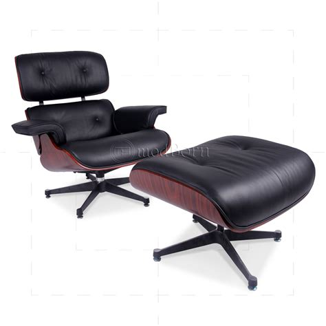 Eames Chair Ottoman by Eames Style Lounge Chair And Ottoman Black Leather