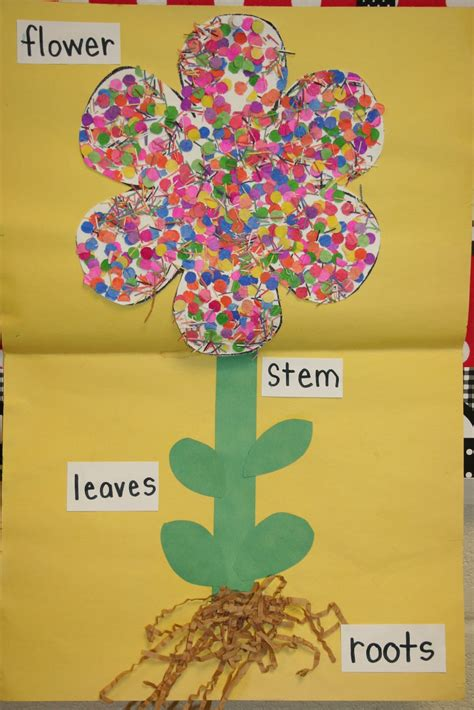 plant crafts for the lesson planning sprouting into flower week