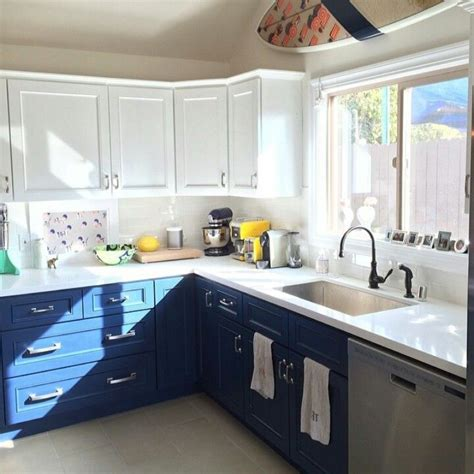 blue color kitchen cabinets 20 kitchens with stylish two tone cabinets