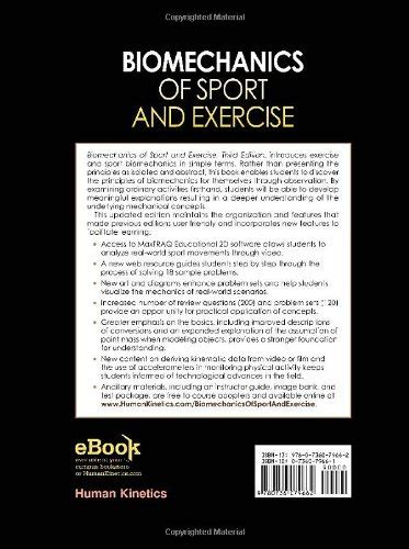 biomechanics of sport and exercise with web resource and maxtraq 2d software access 3rd edition libro biomechanics of sport and exercise with webresource