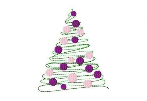 stilisierter weihnachtsbaum redwork stylized tree daily embroidery