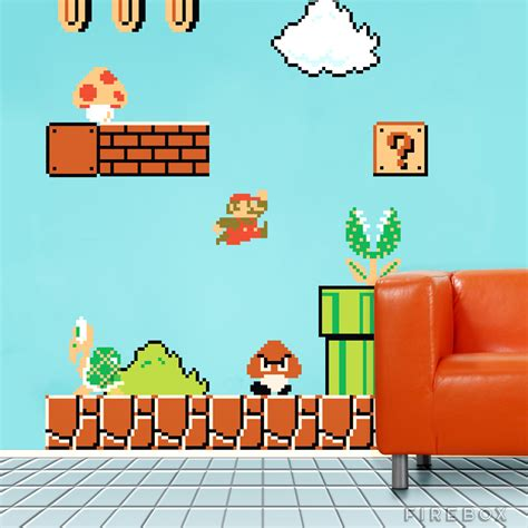 mario wall sticker blik original mario wall decals firebox shop for