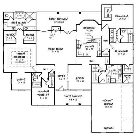 walkout ranch floor plans ranch house floor plans with walkout basement best of