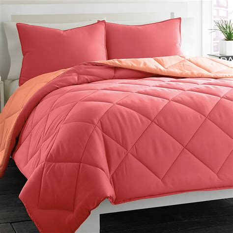 coral comforter sets city reversible coral comforter set from
