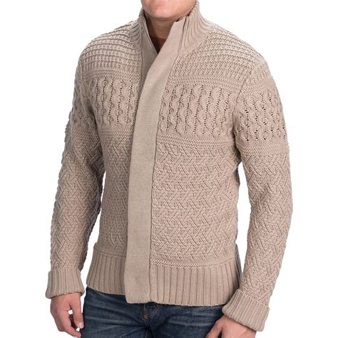 cable knit sweater mens blue cable knit sweater zip for in