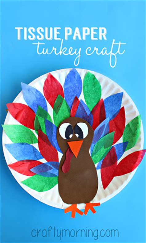 tissue paper turkey craft creative paper plate crafts for to make crafty morning