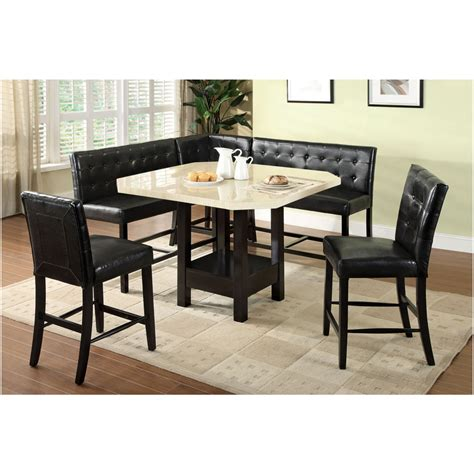 Dining Room Sets Bahama 6 Pc Bahamas Contemporary Style Faux Marble Table Top