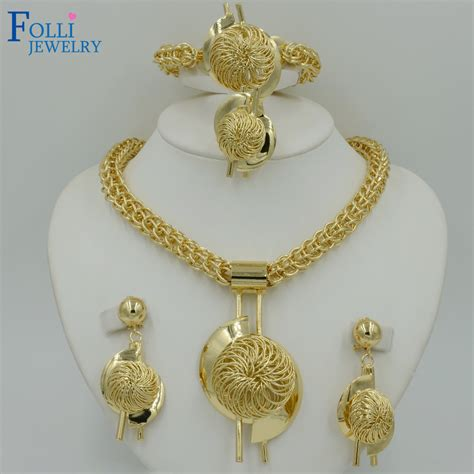 how to make gold plated jewelry bridal gift wedding jewelry set