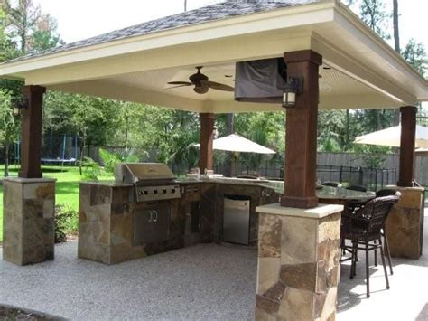 covered outdoor kitchen designs outdoor kitchens gazebos fireplaces pits portfolio