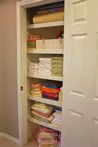 linen closet organized linen closet the side up