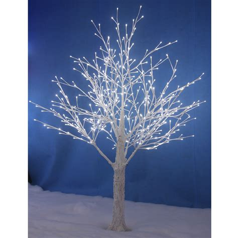 new white snowy twig tree white led lights indoor
