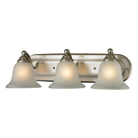 led bathroom vanity lights shop westmore lighting 3 light wyndmoor brushed nickel led bathroom vanity light at lowes