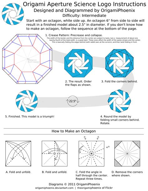 science of origami aperture science origami by origamiphoenix on deviantart
