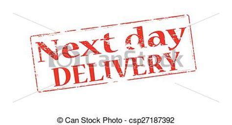 next day rubber sts eps vectors of next day delivery rubber st with text