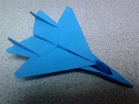origami f 15 blue origami f15 fighter jet by theorigamiarchitect on