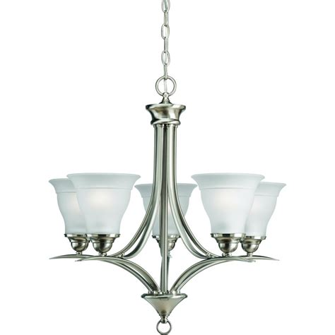 chandeliers at home progress lighting collection brushed nickel 5