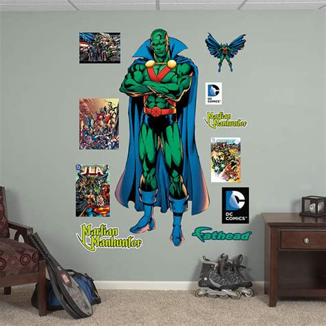 wall stickers outlet fathead martian manhunter wall decal