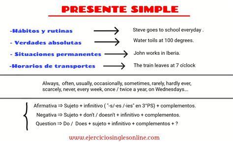 preguntas faciles en pasado simple presente simple ejercicios ingl 233 s online