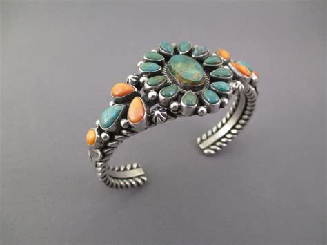 spiny oyster br9003 sterling silver royston turquoise and spiny