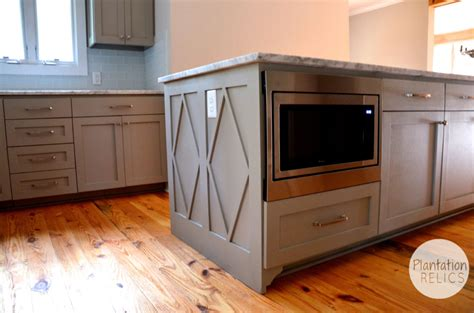 kitchen island with microwave brick cottage after kitchen plantation relics
