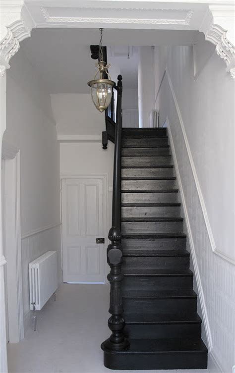 black staircase 47 park avenue black painted staircase