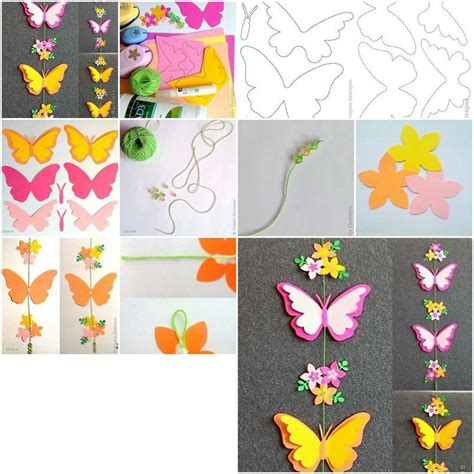 butterfly crafts for to make how to make paper butterfly mobile step by step diy
