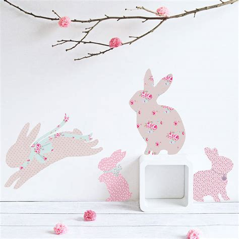 Large Childrens Wall Stickers children s rabbit wall stickers by koko kids