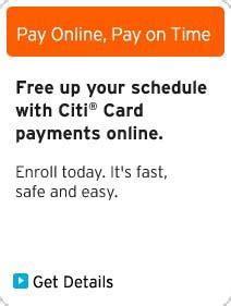 make a payment citi card citi 174 credit cards