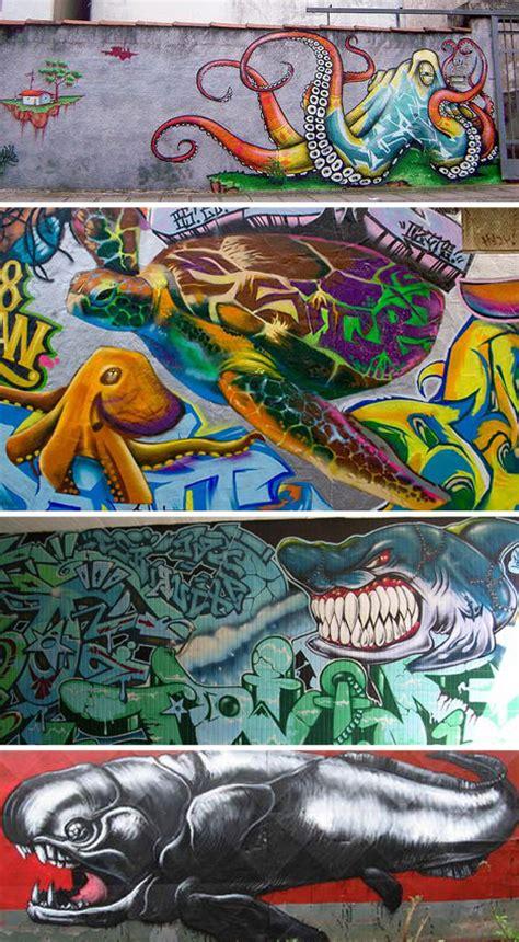 Paint Wall Murals deep art 23 examples of must sea ocean themed graffiti