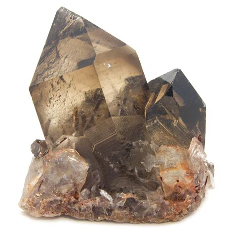 smoky quartz rutilated epidote in smoky quartz crater with