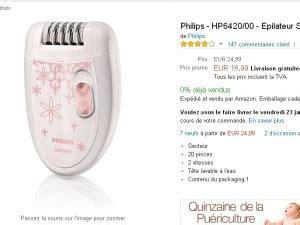 epilateur philips en vente flash 224 17 euros bons plans et astuces