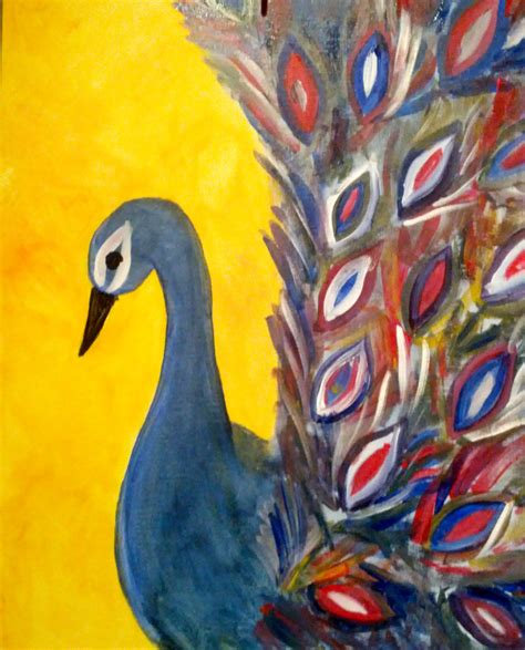 paint nite markham peacock sri s arts