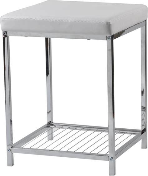 bathroom storage stool bathroom metal stool with pvc cushion and storage shelf