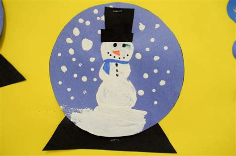 winter construction paper crafts snow globe craft winter festival ideas