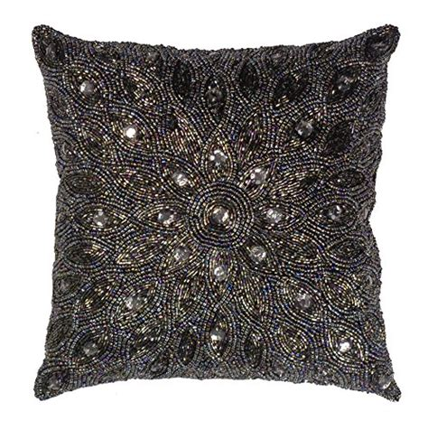 beaded decorative pillows cotton craft throw pillows peacock beaded