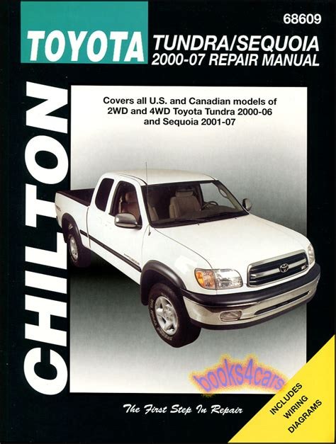 service manual car owners manuals for sale 2000 nissan xterra regenerative braking 2001 04 toyota tundra sequoia shop manual service repair book chilton haynes 2000 2007 ebay