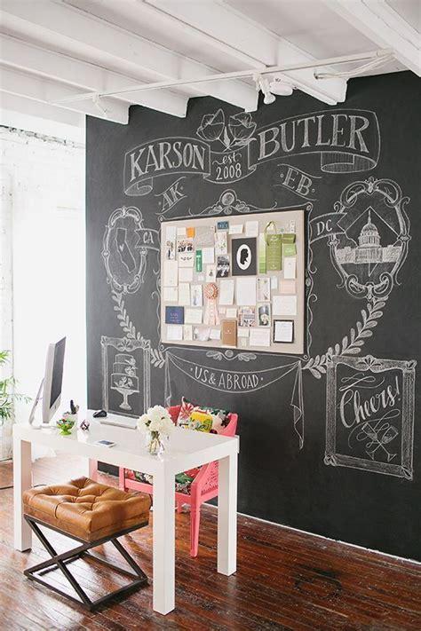 chalkboard paint ideas for office 32 smart chalkboard home office d 233 cor ideas digsdigs