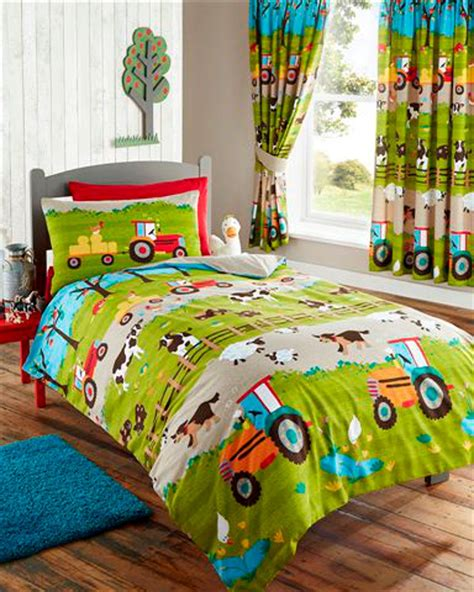 tractor bedding set farm animals tractor duvet cover or matching curtains
