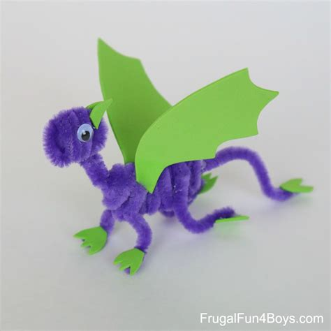 pipe cleaner craft pipe cleaner dragons craft for frugal for boys