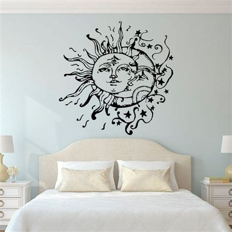 sticker designs for walls sun moon wall decals for bedroom sun and moon wall