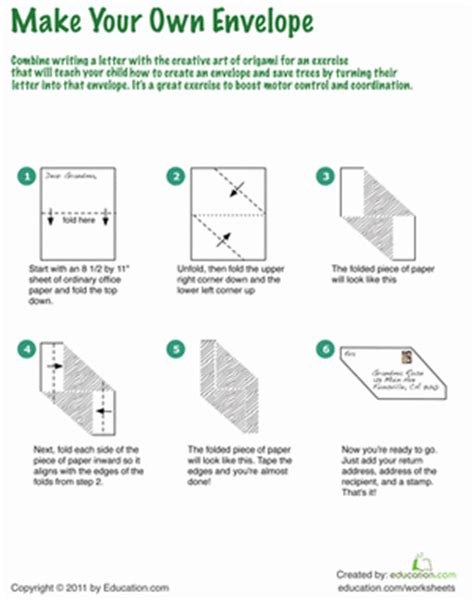 how to make your own origami paper how to make an origami envelope worksheet education
