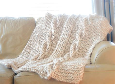 cable knit throw pattern free endless cables chunky knit throw pattern in a stitch