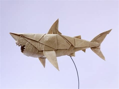 origami sharks shark white paper great white origami paper and design